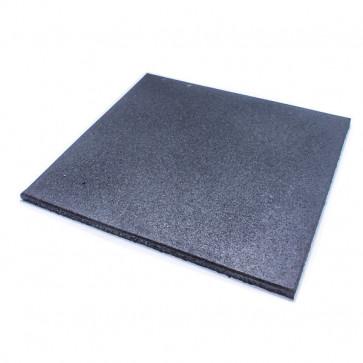 Gummi Gulv 1000x1000 - Sort 15 mm
