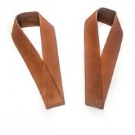 Læder straps til bedre greb i dødløft og lignende øvelser. Ægte læder.