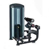 Rygmaskine til fitnesscenteret. Vægtstak med 90 kg plader.