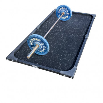 Byg selv vægtløfterplatform med gummigulv og jernramme
