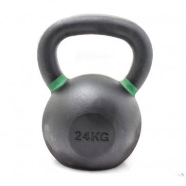 24 kg kettlebell med grønne ringe der viser vægten