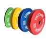 Colored bumper plate weight plates