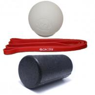 Komplet mobilitets pakke med foam roller, lacrosse bold og træningselastik