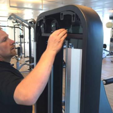 Installation af træningsmaskine