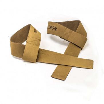 Lækre brune straps i ægte læder