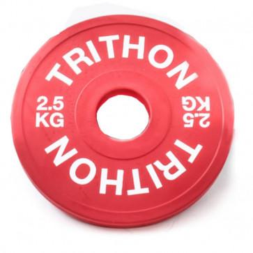 Fraktions vægtskive i rød på 2,5 kg.