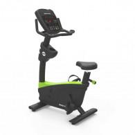 Upright motionscykel med modstande og pulsmåler.