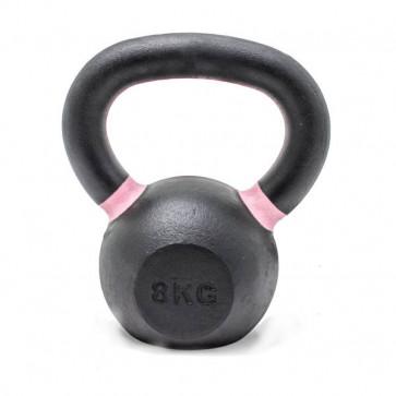 8 kg kettlebell med farvet håndtag af lyserød ring