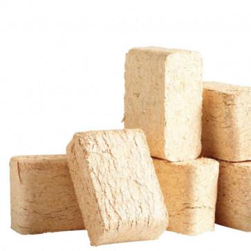 Træbriketter i 10 kg poser