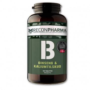 Kalium og Ginseng tabletter til 2 måneders forbrug.