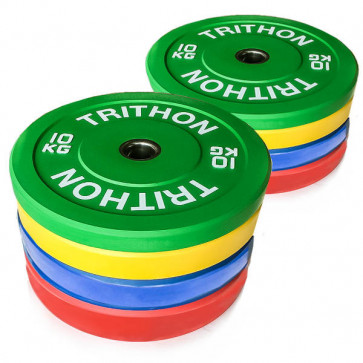 Olympiske IWF farvede vægtskiver fra 10 til 25 kg
