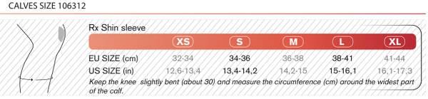 Størrelsesguide til Rehband Skins