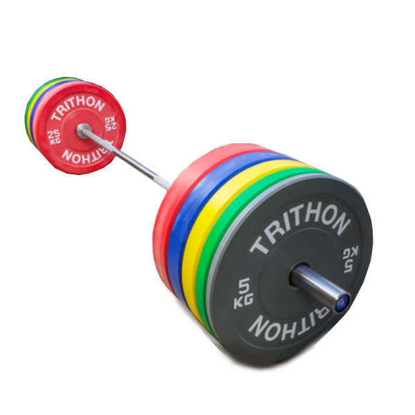 Barbell Set With Colored Weight Plates